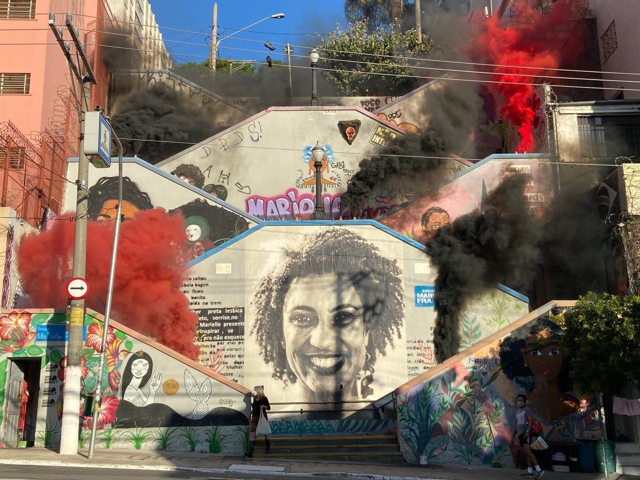 Escadaria-Marielle-Franco-na-zona-oeste-da-capital-paulista.-Foto_-Fumaca-Antifascista_divulgacao